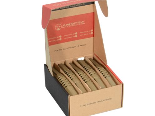 Amoeba Ultimate 140 Round Tan Midcap Mag, Box Set of 5