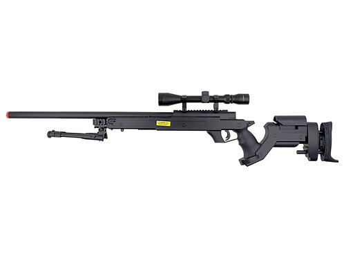 Well MB05 AWM APS-2 Airsoft Sniper Rifle with 3-9x40 Scope and Bipod