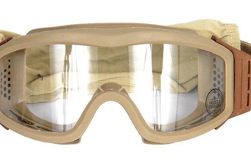Lancer Tactical Airsoft Safety Goggles, Basic, Desert Tan Frame, Clear Lens