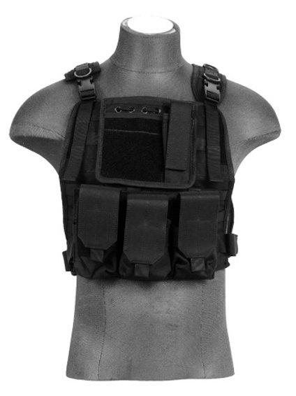 Lancer Tactical CA-301BN Molle Plate Carrier Vest in Black