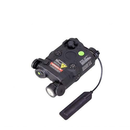 Bravo P15 Flashlight & Green Laser PEQ Box, Black