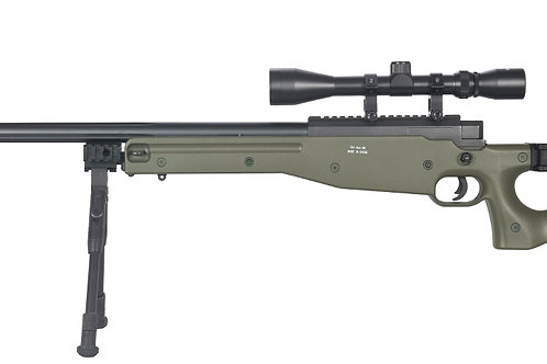 Well L96 AWP OD Green Bolt Action Sniper Rifle Kit