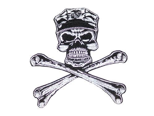 Raptors Tactical 5'' Marine Skull Crossbones Patch Iron On