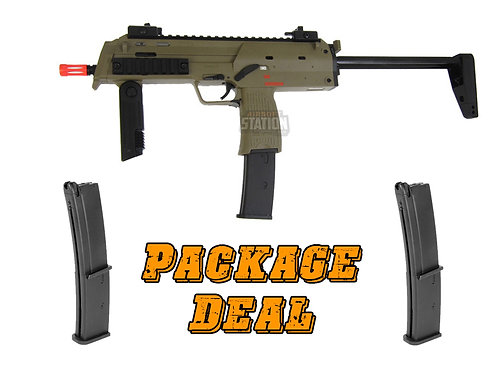 KWA H&K MP7 A1 Gas Blowback Combo Package w/ 2 Extra Mags, Tan Version