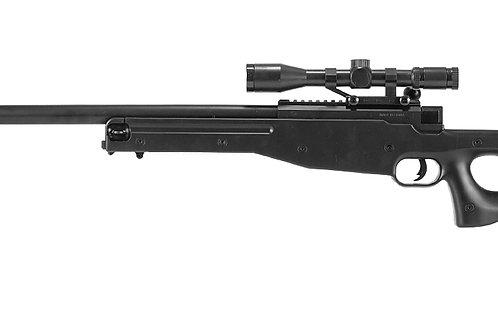 CYMA MK96 Bolt Action Airsoft Rifle w/ Scope, Black