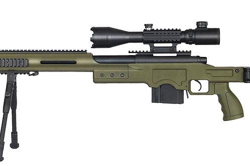 Well MB4410 Bolt Action Sniper Rifle w/ Illuminated Scope & Bipod, OD Green
