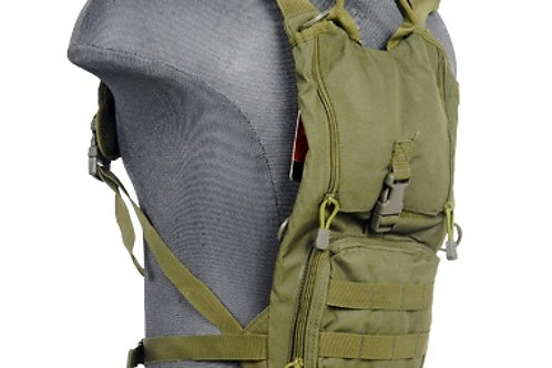 Lancer Tactical Lightweight Hydration Pack, OD Green