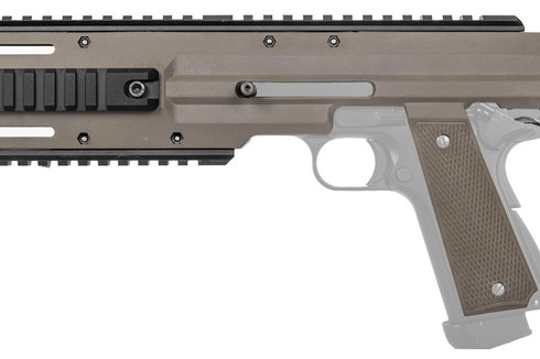 Lancer Tactical Carbine Conversion Kit for 1911/MEU Pistols, Tan