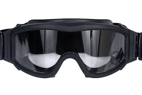 Lancer Tactical Airsoft Safety Goggles, Basic, Black Frame, Clear Lens