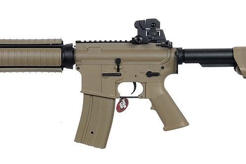 JG Super Enhanced M4 CQB RIS AEG Dark Earth Airsoft Rifle