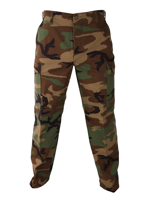 Propper BDU Trouser, 100% Cotton Ripstop, Woodland, Button Fly