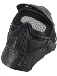 Full Face Mask with Mesh Goggles and Neck Protector, Black