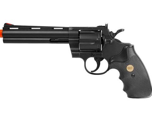 "UHC Airsoft Revolver 6"" Barrel - Black"