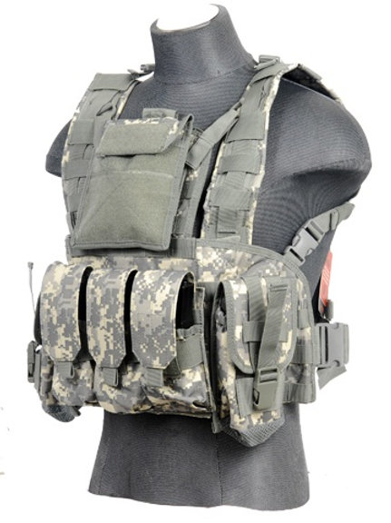 Lancer Tactical Modular Chest Rig with Pouches, ACU