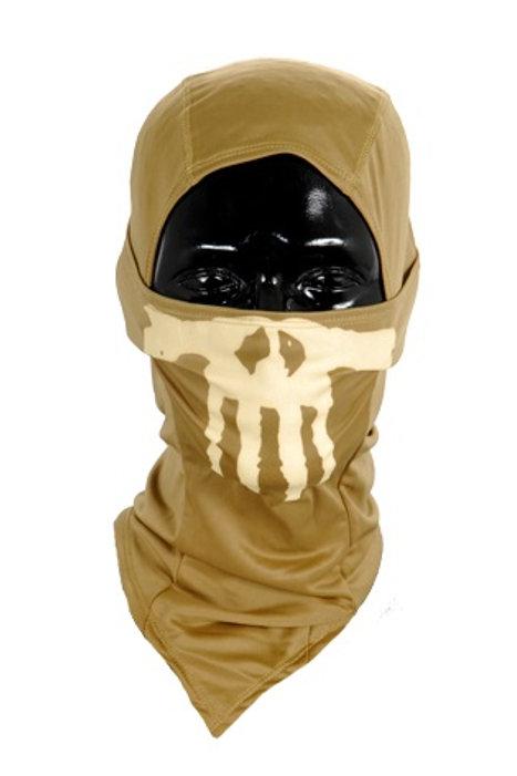Lancer Tactical Ghost Balaclava, Tan w/ Glow in the Dark Skull Design