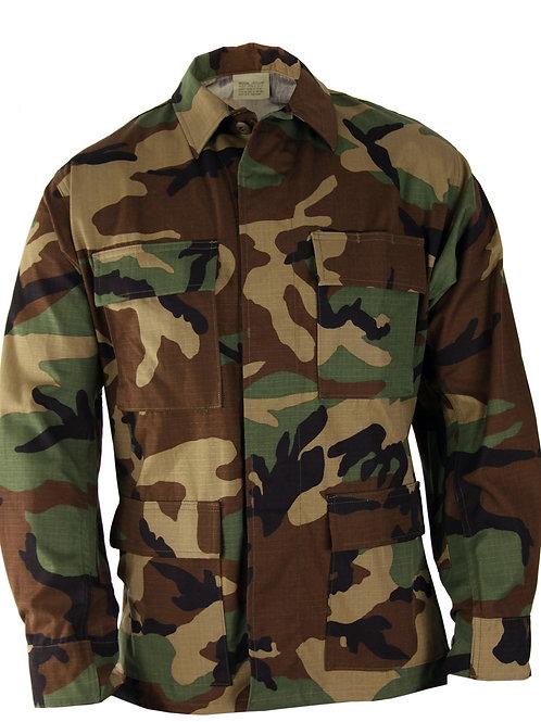 Propper BDU 4-Pocket Coat, 100% Cotton Ripstop, Woodland