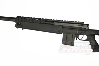 Well MB4407 PGM Full Sized Airsoft Sniper Rifle with Rails and Folding Stock