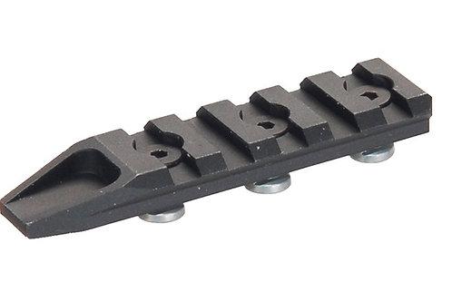 5 Slot Metal Keymod Rail Section, Black