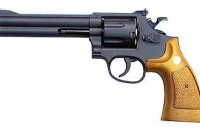 """TSD Sports Spring Revolver - 6"""" Barrel Airsoft Pistol, Black/Wood"""