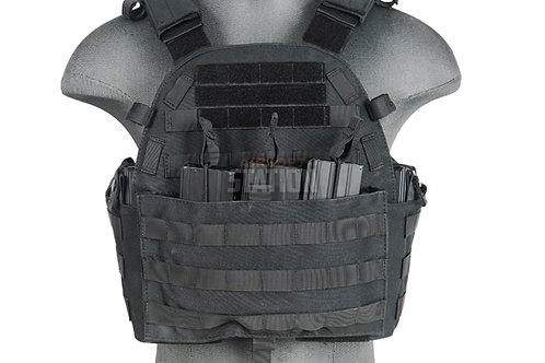 Lancer Tactical 6094 Plate Carrier w/ Triple Inner Mag Pouch, Black