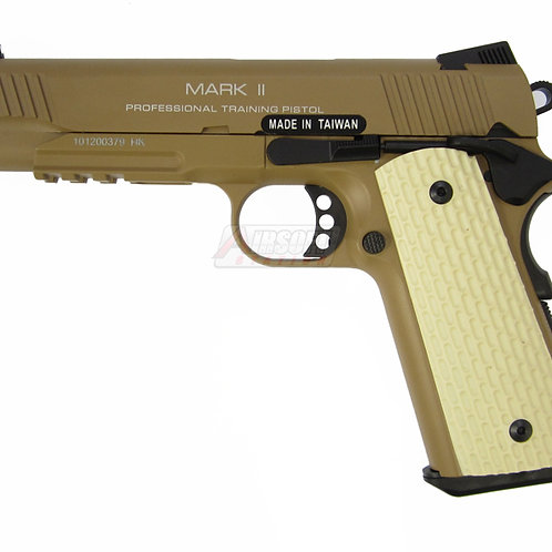 KWA M1911 MK II Metal Tactical PTP Gas Blowback Airsoft Pistol, Desert Tan