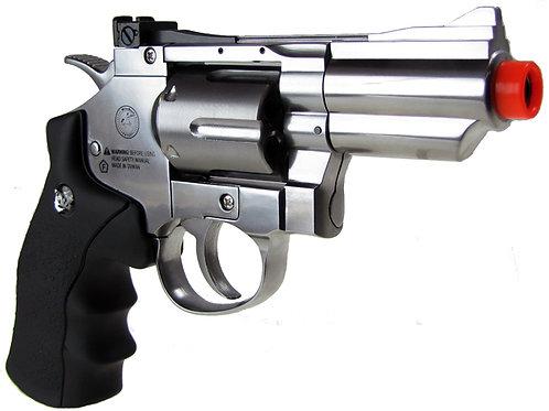 "WG CO2 Full Metal Airsoft Revolver, 2"" Snub Nose, Chrome"
