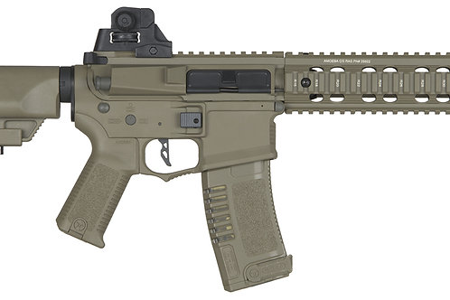 "ARES Amoeba AM-008 10"" M4 CQB Airsoft Rifle, Tan"