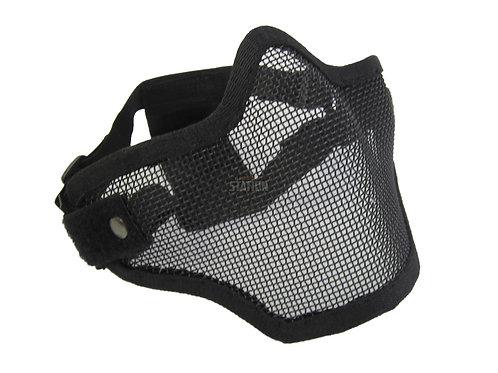 2G Steel Mesh Half Face Mask, Black