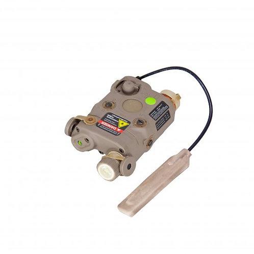Bravo P15 Flashlight & Green Laser PEQ Box, Tan