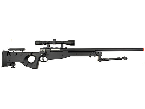 Well MB08 Bolt Action Airsoft Sniper Rifle with Scope and Bipod