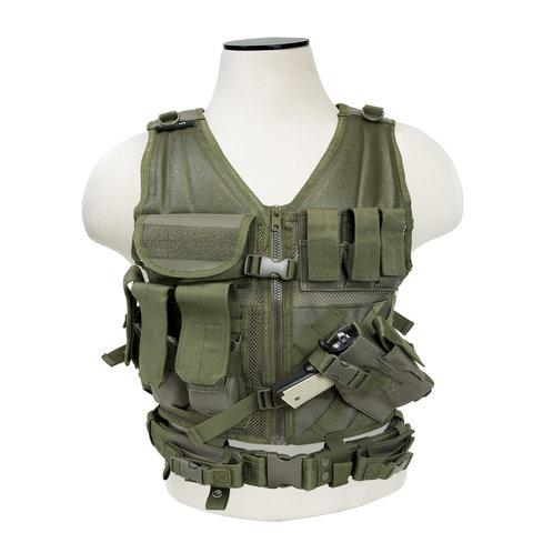 NC Star Children's Tactical Vest, OD Green