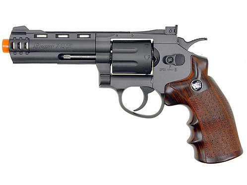"WG 8-Shot CO2 4"" Airsoft Revolver, Black"