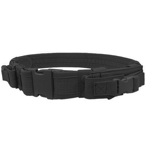 Condor Tactical Belt with Dual Pistol Mag Pouches, Black
