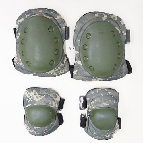 Knee and Elbow Pads for Airsoft, Digital Army Camo