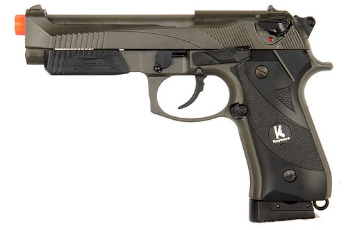 HFC Full Metal M9 Style CO2 Blowback Pistol Full/Semi Auto, Two Tone