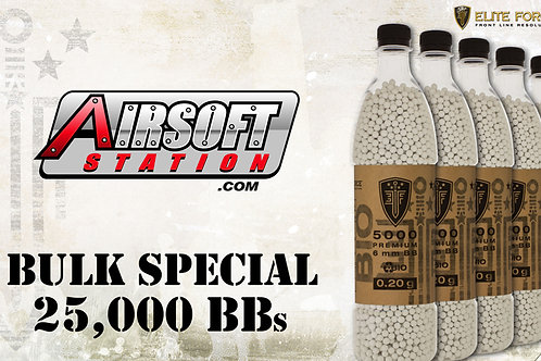 Elite Force Biodegradable Airsoft BBs, 0.20g, 25K Bulk Deal