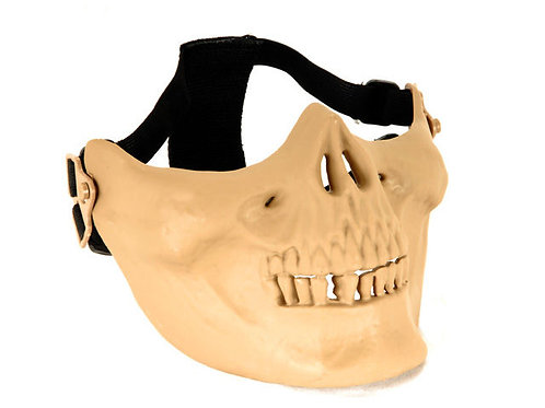 Skull Half Face Mask, Tan