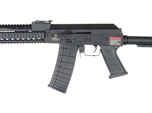 Lancer Tactical RIS AK Full Metal Tactical AEG Airsoft Gun, Black
