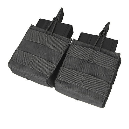Condor MOLLE Double Open-Top M14 Mag Pouch, Black