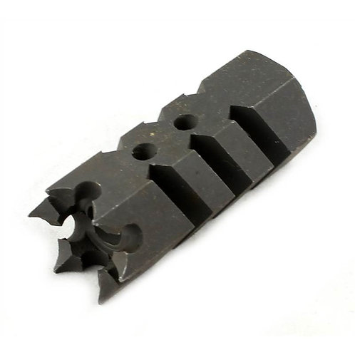 Tactical Version 8 Steel Airsoft Flash Hider, 14mm CCW Threaded