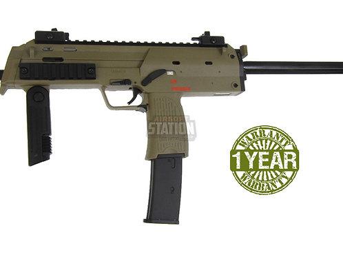 H&K MP7A1 Gas Blowback Airsoft Gun by KWA, Dark Earth/Tan