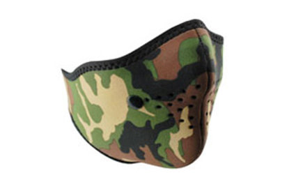 Zan Headgear Tactical Neo-X Face Mask Removable Filter Woodland Camo Airsoft