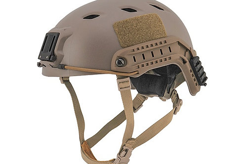 Lancer Tactical SpecOps Military Style NVG Helmet w/ Rails, Tan