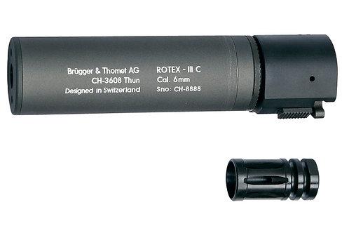 "B&T ROTEX III C Metal QD Barrel Extension and Metal Flash Hider, Grey, 6.2"""
