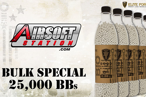 Elite Force Biodegradable Airsoft BBs, 0.28g, 25K Bulk Deal