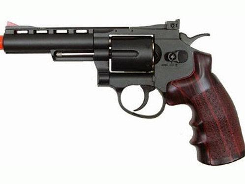 "WG CO2 Full Metal Airsoft Revolver, 4"" Black"