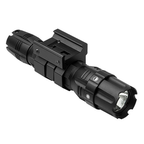 NC STAR Pro Series CREE LED 250 Lumen Flashlight with Rail Mount