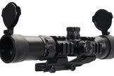Lancer Tactical Red, Green, & Blue Tri-Illuminated 1.5-5x Rifle Scope