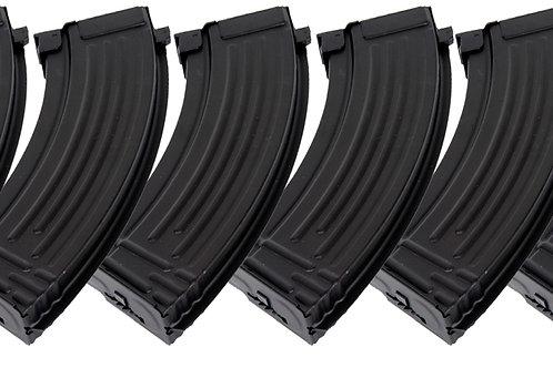 Full Metal AK47 600 Round High Capacity Magazine - 6 Pack
