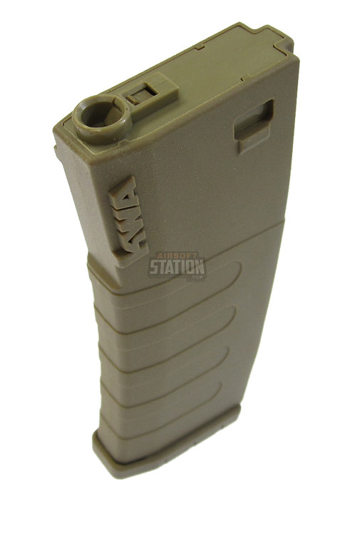 KWA K120 Polymer Midcap Magazine for M4 / M16 Series Airsoft AEG Rifles, FDE